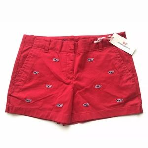 Vineyard Vines Girls Whale Embroidered shorts 14